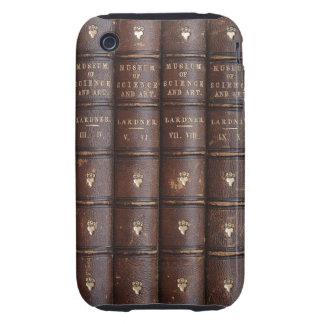 La biblioteca de cuero del vintage reserva el iPho Tough iPhone 3 Cárcasas