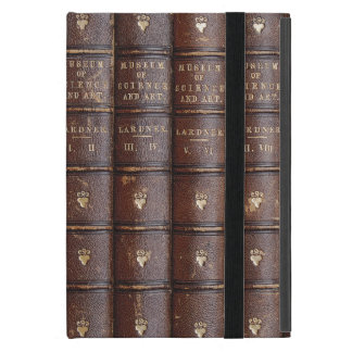 La biblioteca de cuero del vintage reserva el mini iPad mini cobertura
