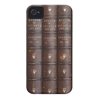 La biblioteca de cuero del vintage reserva en casa iPhone 4 protectores