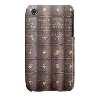 La biblioteca de cuero del vintage reserva en casa iPhone 3 funda