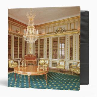 """La biblioteca de Louis XVI adornada en 1781 Carpeta 1 1/2"""""""