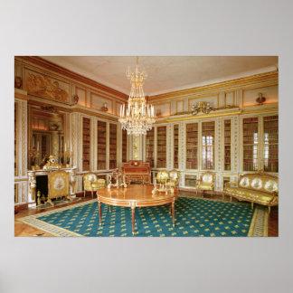 La biblioteca de Louis XVI adornada en 1781 Poster