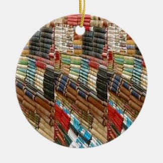 La biblioteca del ratón de biblioteca de los adorno redondo de cerámica