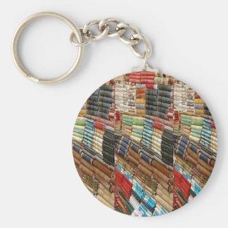 La biblioteca del ratón de biblioteca de los llavero redondo tipo pin