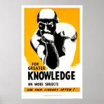 La biblioteca es conocimiento WPA 1940 Poster
