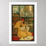 La biblioteca por el verde de Elizabeth Shippen Poster