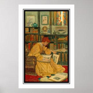 La biblioteca por el verde de Elizabeth Shippen Póster