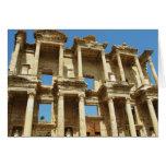 La biblioteca romana de Celsus, Ephesus, Turquía Felicitacion