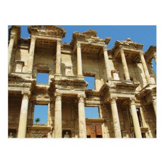 La biblioteca romana de Celsus, Ephesus, Turquía Tarjetas Postales