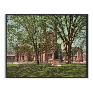La biblioteca vieja, universidad Photochrom raro d Tarjeta Postal