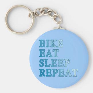 La bici, come, duerme, repite productos llavero