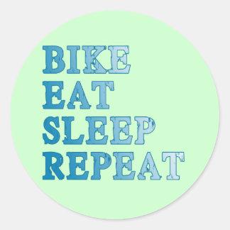 La bici, come, duerme, repite productos pegatina redonda