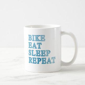 La bici, come, duerme, repite productos taza