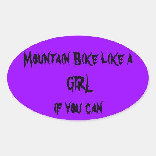 La bici de montaña tiene gusto de un pegatina del