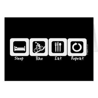 La bici del sueño come la repetición tarjeta de felicitación