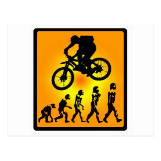 La bici desarrolla soleado postal