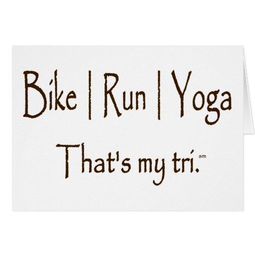 La bici el | corre la yoga del | tarjeta de felicitación
