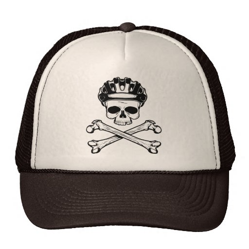 La bici o muere - bici y bandera pirata gorros