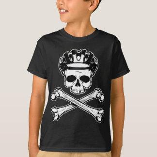 La bici o muere - bici y bandera pirata playera