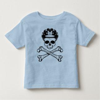 La bici o muere - bici y bandera pirata polera
