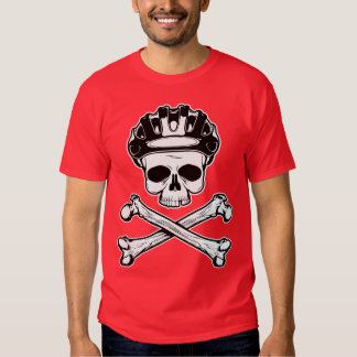 La bici o muere - bici y bandera pirata remera