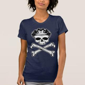 La bici o muere - bici y bandera pirata remeras