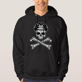 La bici o muere - bici y bandera pirata sudadera con capucha