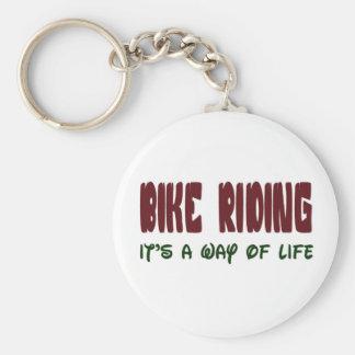 la bici que lo monta es una manera de vida llavero redondo tipo chapa