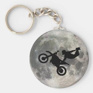 La bici saltada sobre la luna llavero