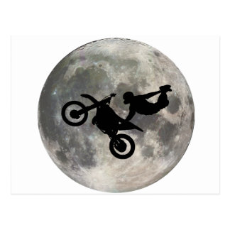 La bici saltada sobre la luna postales