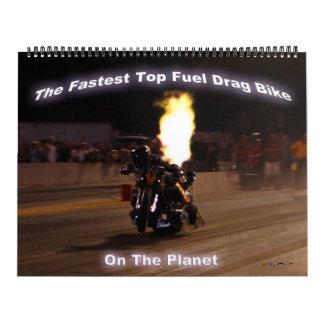 """""""La bici superior más rápida de la fricción del Calendario De Pared"""