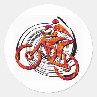 La bici tiene gusto de Hans Pegatina Redonda