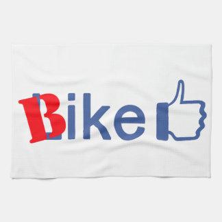 La bici tiene gusto toalla de cocina