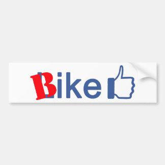 La bici tiene gusto pegatina para auto