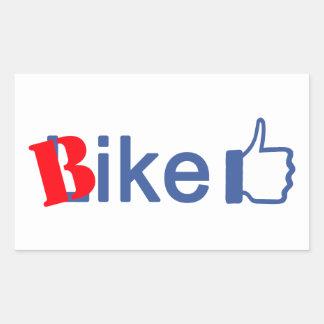 La bici tiene gusto pegatina rectangular