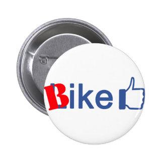 La bici tiene gusto pin redondo de 2 pulgadas