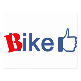 La bici tiene gusto postal
