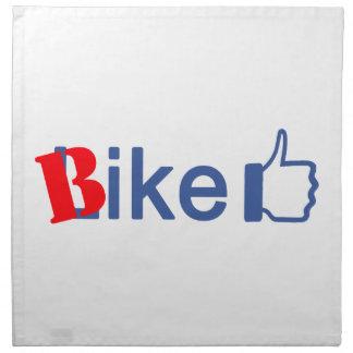 La bici tiene gusto servilleta