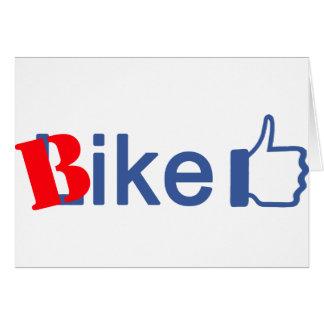 La bici tiene gusto tarjeta de felicitación