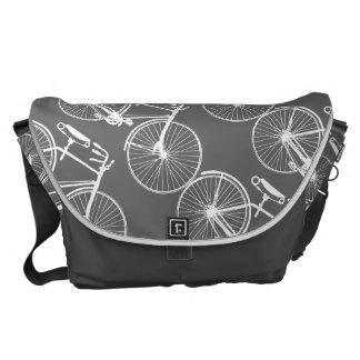 La bici/usted de la bicicleta elige color de fondo bolsa de mensajería