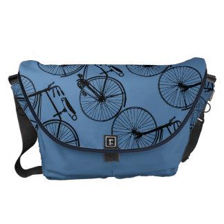 La bici/usted de la bicicleta elige color de fondo bolsa de mensajeria