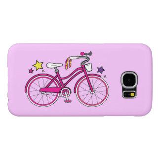 La bicicleta de los chicas en rosa fundas samsung galaxy s6