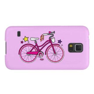 La bicicleta de los chicas en rosa carcasas de galaxy s5