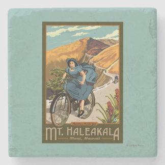 La bicicleta del Mt. Haleakala monta Hawaii Posavasos De Piedra
