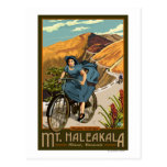 La bicicleta del Mt. Haleakala monta Hawaii Tarjeta Postal