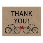 La bicicleta del vintage le agradece las postales