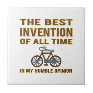 La bicicleta es el mejor azulejo cuadrado pequeño
