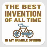 La bicicleta es el mejor pegatinas cuadradas personalizadas