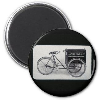 La bicicleta famosa de la entrega del vintage de J Imán Para Frigorífico