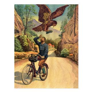 La bicicleta francesa Eagle del kitsch retro del v Tarjeta Postal